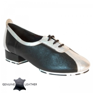 P111 Black/Silver Leather - Star Sole